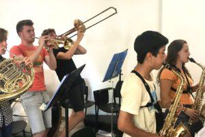 Musiciens en répétition